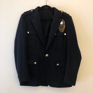 Balmain Men Embellished Badge Black Jacket Blazer